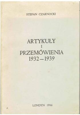 Artykuły i przemówienia 1932 - 1939
