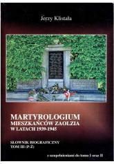 Martyrologium mieszkańców Zaolzia w latach 1939-1945