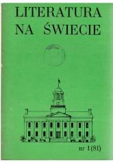 Literatura na Świecie nr 1 (81) 1978