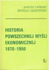 Historia powszechnej myśli ekonomicznej 1870 - 1950