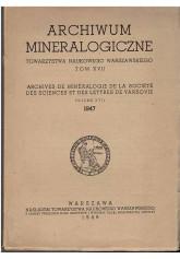 Archiwum mineralogiczne Towarzystwa Naukowego Warszawskiego. Tom XVII (1947)