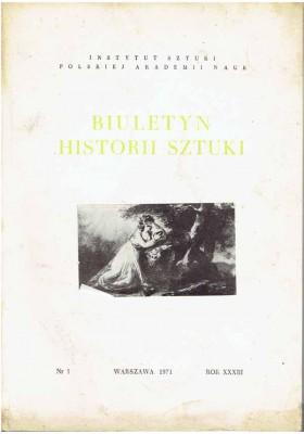 Biuletyn Historii Sztuki nr 1 1971
