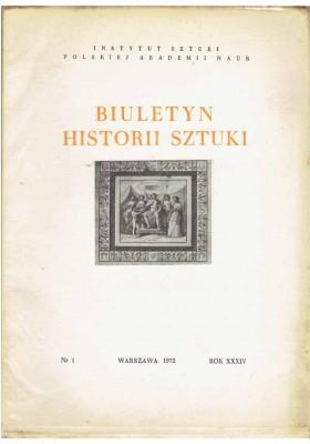 Biuletyn Historii Sztuki nr 1 1972