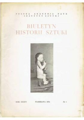 Biuletyn Historii Sztuki nr 1 1974