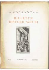 Biuletyn Historii Sztuki nr 2 1971