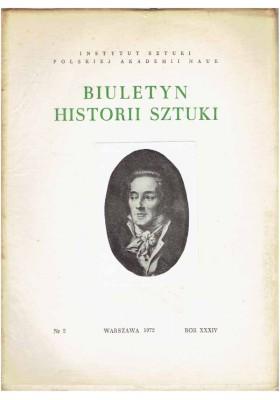 Biuletyn Historii Sztuki nr 2 1972