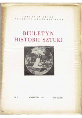 Biuletyn Historii Sztuki nr 3 1971