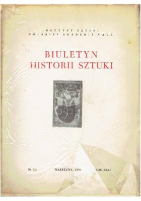 Biuletyn Historii Sztuki nr 3/4 1970