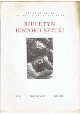 Biuletyn Historii Sztuki nr 3/4 1972