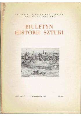 Biuletyn Historii Sztuki nr 3/4 1973