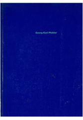 Georg Karl Pfahler. Obrazy, Projekty, Grafika