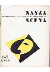 Nasza Scena. Program miesięczny PTN Łódź, sezon 1962